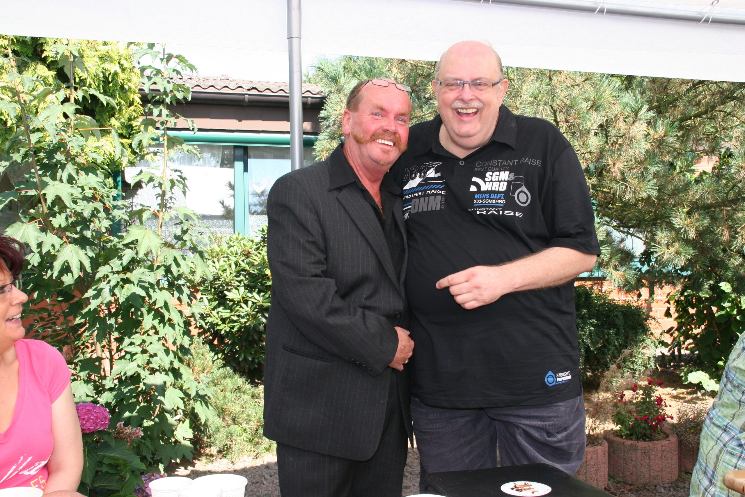 Helmut Decherdt und Gerhard Kipper genossen diesen Jubeltag.